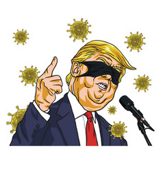 Donald trump presidential campaign with covid19 19 vector