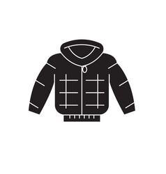 down jacket black concept icon down jacket vector image