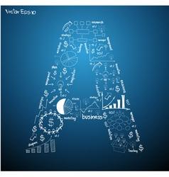 Drawing business plan concept diagrams alphabet vector
