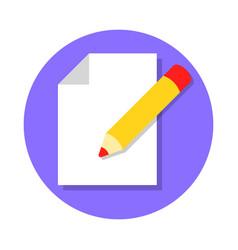 Edit document icon vector