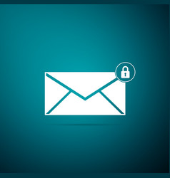 email message lock password envelope with padlock vector image