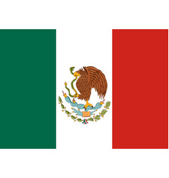Flag of mexico mexican national background vector