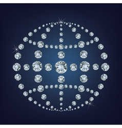 Global world icon made a lot of from diamonds vector image