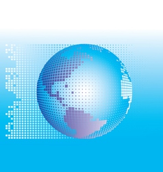 globe square pixels vector image vector image