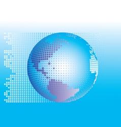 Globe square pixels vector