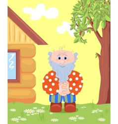 grandfather outdoor vector image