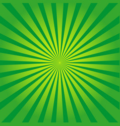 green background with yellow rays sun burst vector image