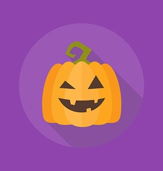 Halloween flat icon pumpkin vector