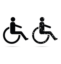 Handicapped sign set in black color vector