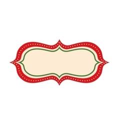 Happy merry christmas frame card vector