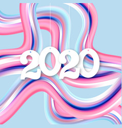 happy new year 2020 greeting inscription vector image