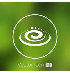 Hygienic cream top view Cream particles icon vector