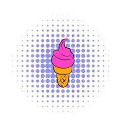 Ice cream icon comics style vector image