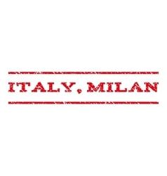Italy Milan Watermark Stamp vector