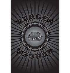 Junk food background vector