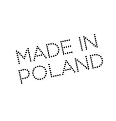 Made in poland rubber stamp vector