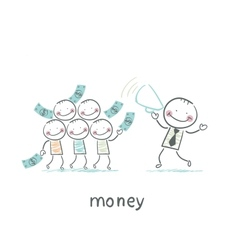 Man and Money vector image