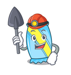 Miner candy mascot cartoon style vector
