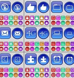 Mobile phone Like Folder Message 4G Laptop Arrow vector