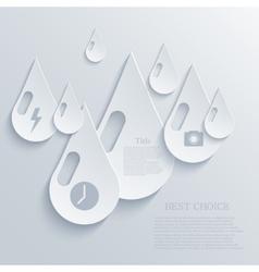 modern drop background Eps 10 vector image