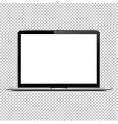 modern laptop computer mockup isolated on vector image