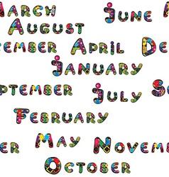Months pattern vector