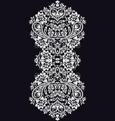 neckline - ethnic design floral pattern vector image