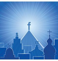 New religion Social network vector