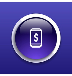 Phone tariff plan cost icon money spending banking vector