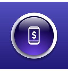 Phone tariff plan cost icon money spending banking vector