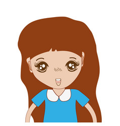 Pretty girl with hairstyle and casual wear vector