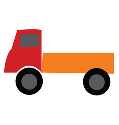 red and orange toy truck or color vector image