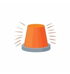 Red flashing light icon cartoon style vector