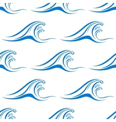 Retro seamless wave background vector image