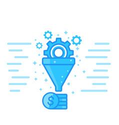 Sales funnel digital marketing vector