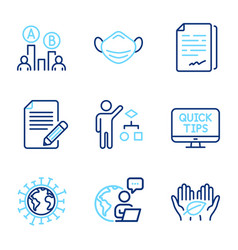 Science icons set included icon as article fair vector
