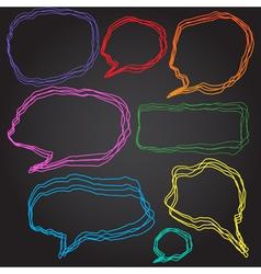Set of 8 doodle style speech bubbles vector image