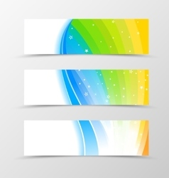 Set of banner rainbow design vector image