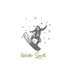 snowboard winter sport speed extreme vector image