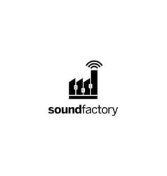 sound factory logo design concept vector image