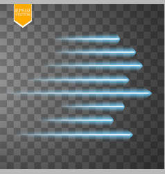 speed glow blue lines isolated set of motion vector image