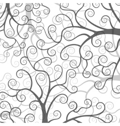 Stylized trees on white background vector image
