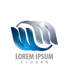 twin mw letter logo concept design symbol graphic vector image