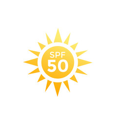 Uv sun protection spf 50 icon on white vector
