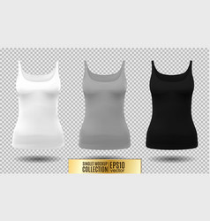 fitness tank top for women vector image vector image