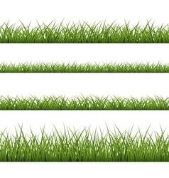 Green grass seamless pattern line vector image