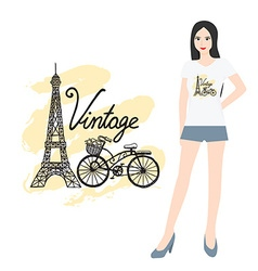 Hand drawn t shirt design vector image vector image