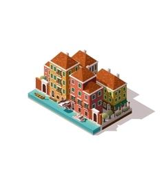 isometric Venice street vector image vector image
