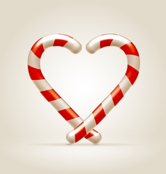 Sweetheart made of candy canes vector image vector image