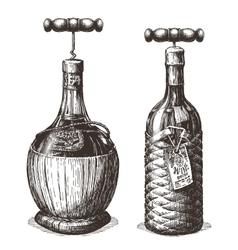 wine logo design template bottle or vector image vector image